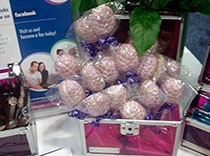 Cerebros de chocolate de color púrpura en honor de la conciencia de la epilepsia