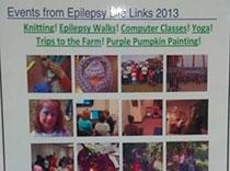 Poster que muestra todas las actividades para epilepsia que ofrecimos este año